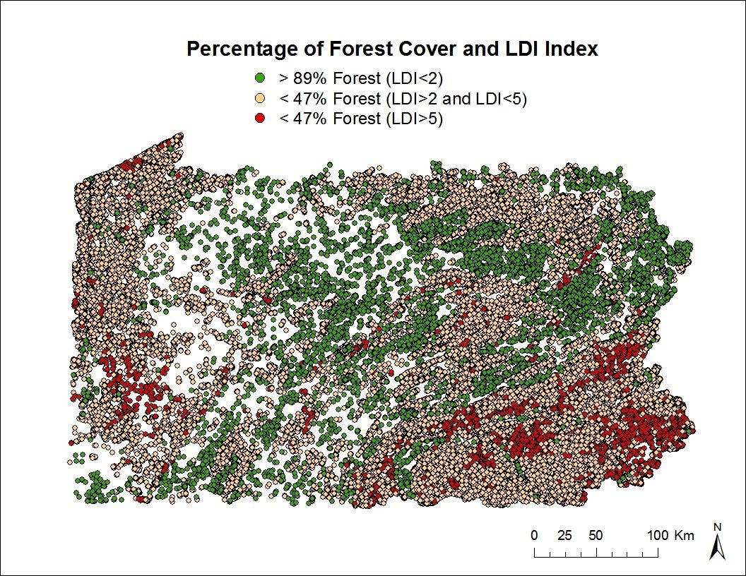Map_PASDA_Forest_LDI pennsylvania national wetlands inventory
